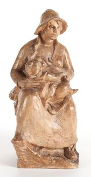"""Maternite (Mother and Child)"" sculpture made in 1916 in a collaboration between Renoir and Guino."