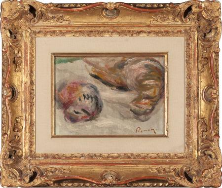 "Renoir's ""Les Becasses (Woodcocks)"" is the only painting included in the auction of his estate. The small still-life of two dead birds is believed to be Renoir's last work."