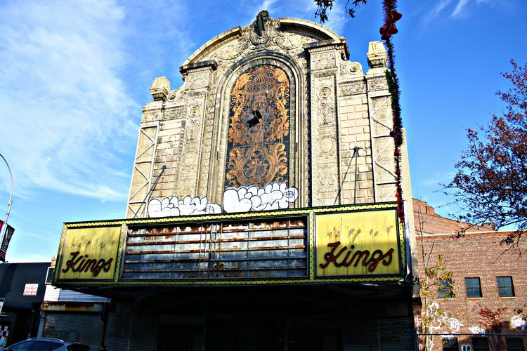 The Loew's Kings Theatre in Brooklyn has been vacant since 1977.