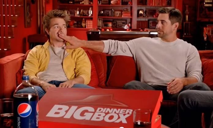 Green Bay Packers quarterback Aaron Rogers was featured in an effective advertising campaign for Pizza Hut. (See the full commercial below.)