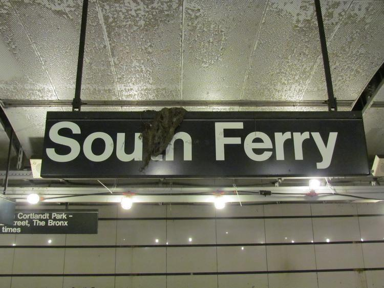 The South Ferry subway station has been closed since it was badly damaged by Hurricane Sandy flooding.