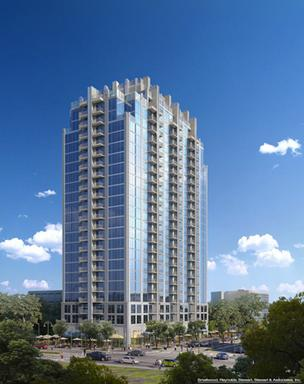 SkyHouse Orlando apartment complex is now marketing its planned 8,200 square feet of retail space.