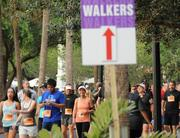 Participants make their way to the starting line before the IOA Corporate 5K.