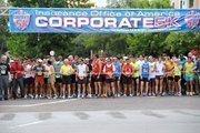 Runners prepare to begin the IOA Corporate 5K.