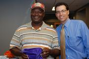 Gift of Sight patient Noel Williams with Eye Physicians of Central Florida's Dr. David B. Auerbach