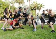 Students and instructors from Wah Lum Kun Fu strike a pose at the IOA Corporate 5K.