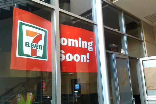 A 7-Eleven store will open at The Plaza between Christmas and Jan. 1.