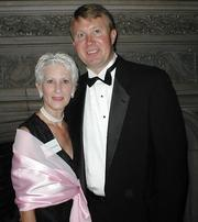 Ann and Bob in Chicago at an awards banquet