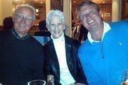 Ann and Bob with a German friend in Oberammergau, Germany