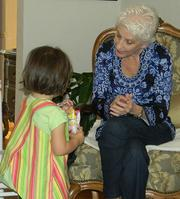 Ann and granddaughter Sophie, on Christmas Day