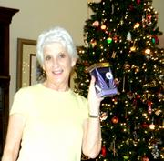 Ann with her Christmas gift