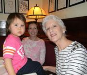 Granddaughter Sophie, daughter Tina and Ann