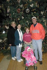 Bob Sonntag, with his mom, daughter Angie, cousin Breanna and granddaughter Jadalyn