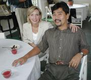 Ann's daughter, Tina, with her husband, Seiya in Atlanta at Ann's aunt and uncle's wedding anniversary