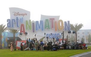 Media gather for the opening event of the Disney Art of Animation Resort.