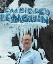 SeaWorld Creative Director Brian Morrow is ready for Antarctica to open. I mean, look at that steely gaze into the wild blue yonder!