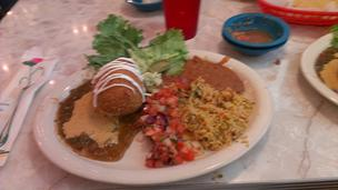 Chuy's offers daily specials, which includes the stuffed avocado with chicken and cheese that is breaded and then deep fried. It's available only on Mondays.