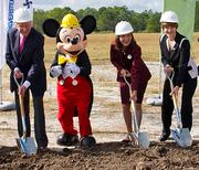 Crofton helped with the groundbreaking of the 444-room, $360 million Four Seasons Resort at Walt Disney World.