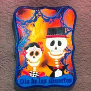 Artwork at the Dia De Los Muertos/Day of the Dead art exhibit in downtown Orlando.