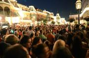 Things got even hotter as the all-nighters arrived while the day-walkers tried to exit on Main Street USA.