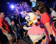 Daisy being guided to the stage Mariah Carey-style. Quack quack beats cray cray any day.
