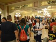 The limited edition merchandise ran out long ago, but the 5 a.m. shoppers at The Emporium on Main Street USA don't seem to mind.