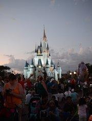 Obligatory twilight photo of Cinderella Castle