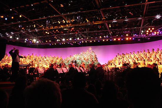 Epcot's candlelight processional combines a 50-piece orchestra and a choir to retell the story of Christmas through music and songs. The event will be playing from Nov. 23 through Dec. 30.