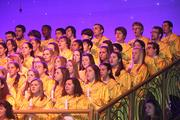 Youth choirs provide support vocals for the show.