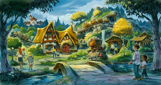 Fantasyland's Seven Dwarfs Mine Train roller coaster will be fully complete by 2014.