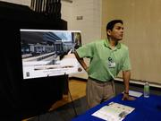 Florida Hospital displayed plans for its SunRail station development near downtown Orlando.
