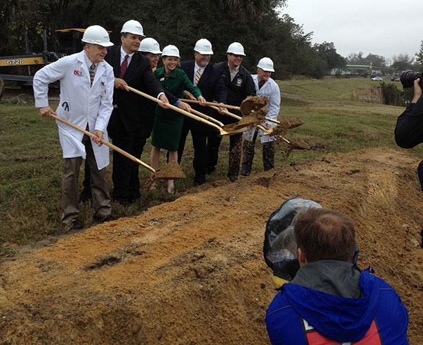 Central Florida Regional Hospital Inc. CEO Wendy Brandon presided over a ceremonial groundbreaking Dec. 13 for a new freestanding emergency department in Oviedo.