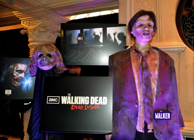 Costume previews from The Walking Dead house on display during the Halloween Horror Nights 2012 media preview.