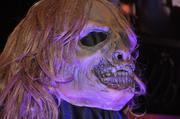 "Detail of a ""walker"" mask from The Walking Dead house on display during the Halloween Horror Nights 2012 media preview."