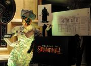 Concept artwork and a nurse costume from the Silent Hill house.