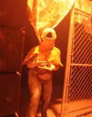 A scene from the Silent Hill house at Halloween Horror Nights.