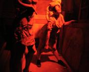 Healthcare workers gone horribly wrong inside the Silent Hill house at Halloween Horror Nights.