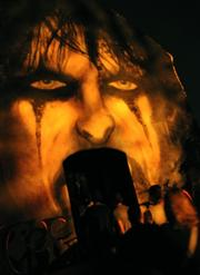 A likeness of Alice Cooper decorates the entrance to the Welcome To My Nightmare house.