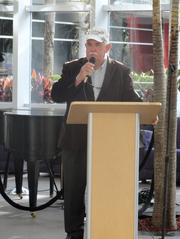Ocoee Mayor Scott Vandergrift spoke at the event. Vanderbilt survived two heart attacks at Health Central and got a fish hook removed from his hand this month.