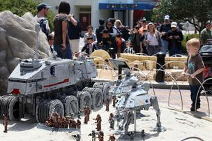 Star Wars Miniland opened to guests at Legoland Florida on Nov. 9.