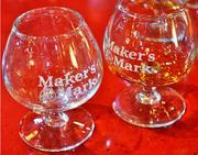 Glasses given after tasting Maker's Mark at the distillery.