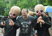 The Cantina band stopped by for a jam session with the crowd.
