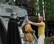 Jedi trainees of all ages got their shot at doing battle with Darth Vader.