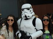 It wouldn't be a Star Wars party without a little occupation by the troops.