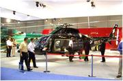 Helicopters on display at the Orange County Convention Center during a previous National Business Aviation Association convention.