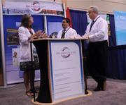 Representatives from Orlando Health were on hand in the exhibitor room.