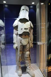 A snowtrooper costume from Empire Strikes back is an example of sci-fi adaptation to harsh climatesinStar Wars: Where Science Meets Imaginationat Orlando Science Center.