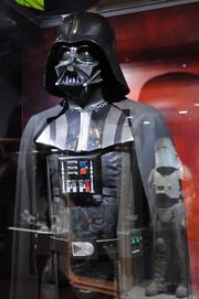 A Darth Vader costume from the first Star Wars film on display inStar Wars: Where Science Meets Imaginationat Orlando Science Center.