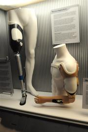 Examples of real world prosthetic advancementson display inStar Wars: Where Science Meets Imaginationat Orlando Science Center.