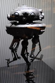 The Imperial Probe Droid from Empire Strikes Backon display inStar Wars: Where Science Meets Imaginationat Orlando Science Center.